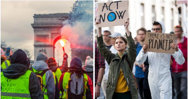 Gelbwesten- und Klimakrisen-Proteste